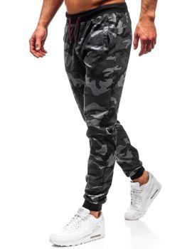 Grafitové pánské maskáčové jogger tepláky Bolf MK19