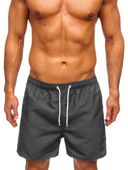 Grafitové pánské plavecké šortky Bolf YW02001