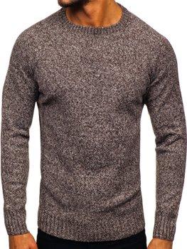 Hnědý pánský svetr Bolf H1929