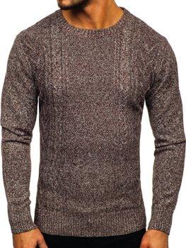Hnědý pánský svetr Bolf H1937
