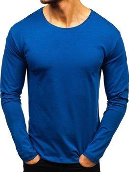 Indigo pánské tričko s dlouhým rukávem bez potisku Bolf 172007