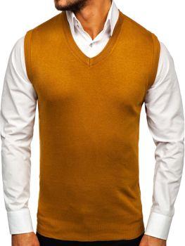 Kamelová pánská pletená vesta Bolf H1939