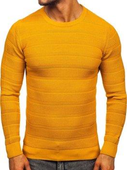 Kamelový pánský svetr Bolf 4357