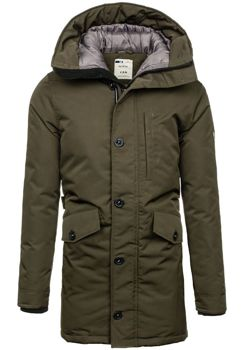 Khaki pánská zimní bunda Bolf 5012