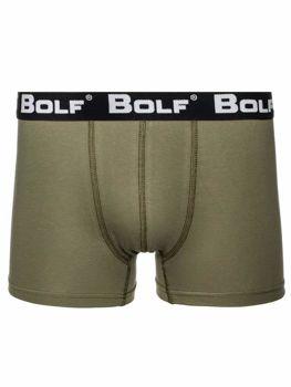 Khaki pánské boxerky Bolf 0953