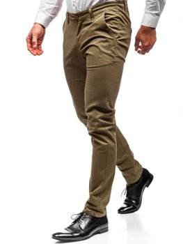 Khaki pánské chino kalhoty Bolf 2901
