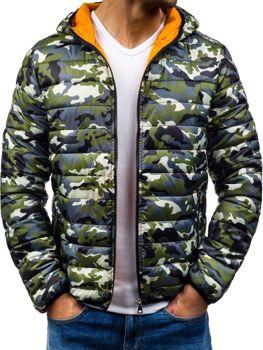 Maskáčovo-zelená pánská přechodná bunda Bolf 4360