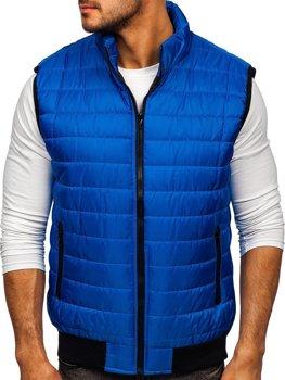 Modrá pánská prošívaná vesta Bolf MY77