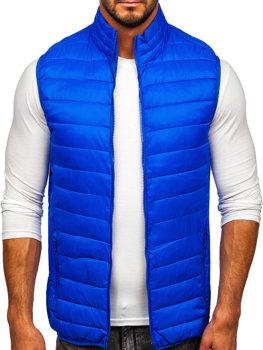 Modrá pánská prošívaná vesta bez kapuce Bolf LY32