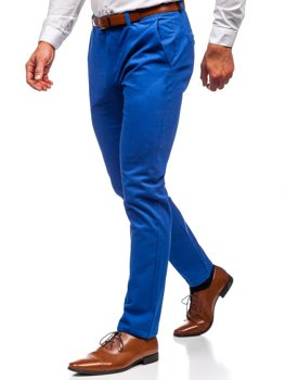 Modré pánské chino kalhoty Bolf 1120
