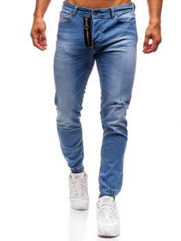 Modré pánské džínové jogger kalhoty Bolf 2043