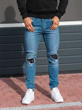 Modré pánské džínové jogger kalhoty Bolf 2044-1