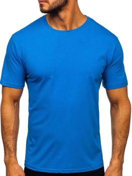 Modré pánské tričko bez potisku Bolf 192132