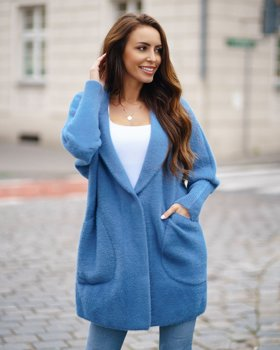 Modrý dámský kabát Bolf 7108