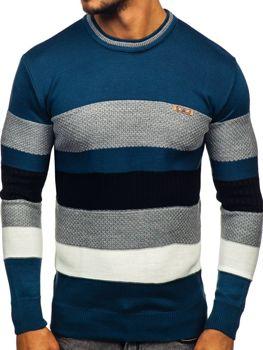Modrý pánský svetr Bolf 04