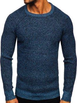 Modrý pánský svetr Bolf H1932