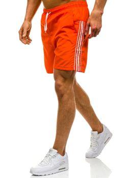 Oranžové pánské koupací šortky Bolf 6804