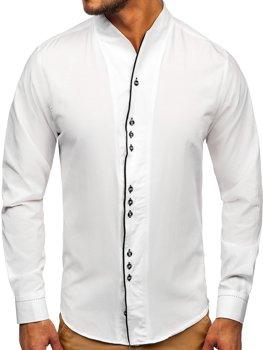 Pánská bílá košile s dlouhým rukávem Bolf 5720