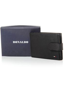 Pánská černá kožená peněženka 3076