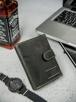 Pánská černá kožená peněženka 3178