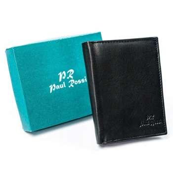 Pánská černá kožená peněženka 4627