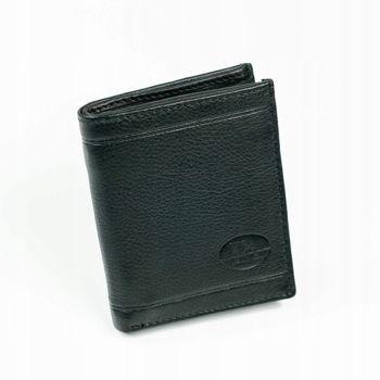 Pánská černá kožená peněženka 877