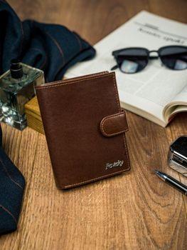 Pánská hnědá kožená peněženka 4515