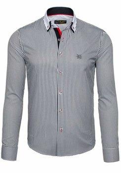 Pánská košile BOLF 5758 bílo-černá