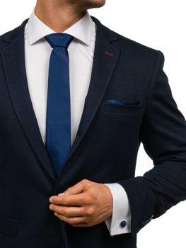 Pánská sada kravata, manžetové knoflíčky, tmavomodrý kapesníček Bolf KSP01