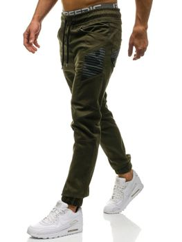 Pánské khaki jogger kalhoty Bolf 0706