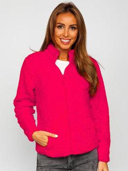 Růžová dámská fleecová mikina Bolf HH006