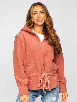Růžová dámská mikina s kapucí Bolf 9320