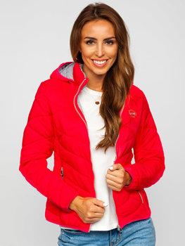 Růžová dámská zimní bunda Bolf AB027