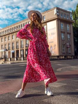 Růžové dámské šaty Bolf A468