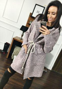 Růžový dámský kabát Bolf 6219