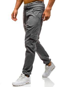 Šedé pánské jogger kapsáče Bolf 0404GBR
