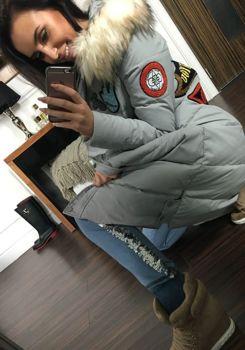 Šedý dámský zimní kabát Bolf 8067