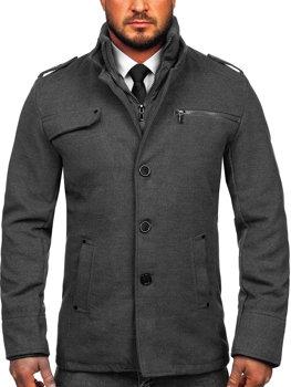 Šedý pánský kabát Bolf 8856