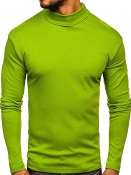 Světle zelený pánský rolák bez potisku Bolf 145347