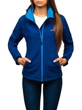 Tmavě modrá dámská přechodová softshellová bunda Bolf AB056