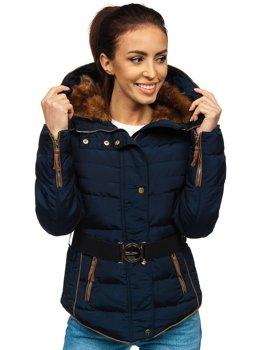 Tmavě modrá dámská zimní bunda Bolf 11