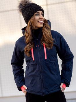 Tmavě modrá dámská zimní lyžařská bunda Bolf HH012