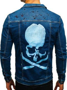 Tmavě modrá pánská džínová bunda Bolf 2052-1