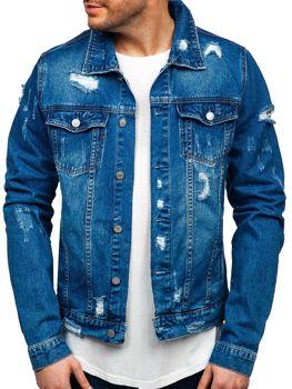 Tmavě modrá pánská džínová bunda Bolf AK580