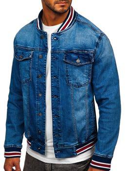 Tmavě modrá pánská džínová bunda Bolf RB9908