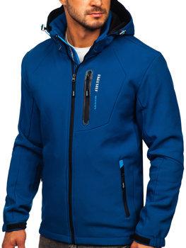 Tmavě modrá pánská softshellová bunda Bolf BK013