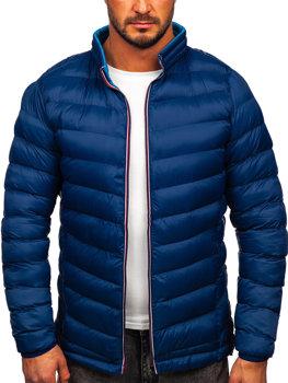 Tmavě modrá pánská sportovní zimní bunda Bolf 1100