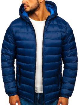 Tmavě modrá pánská sportovní zimní bunda Bolf JP1101