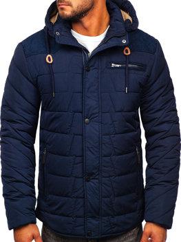 Tmavě modrá pánská zimní bunda Bolf 1673