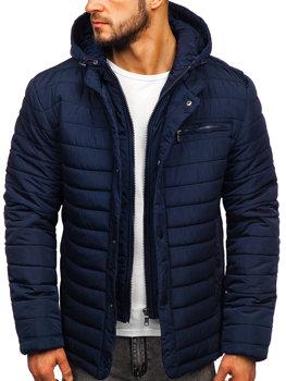 Tmavě modrá pánská zimní bunda Bolf 1675